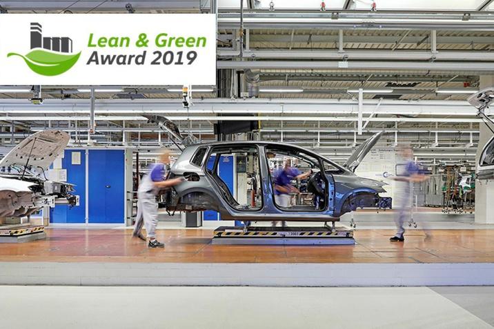 """A Volkswagen wolfsburgi üzemét a """"Lean and Green Management Award"""" kitüntetéssel díjazták"""
