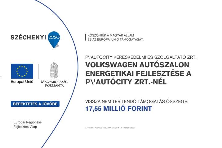 Volkswagen autószalon energetikai fejlesztése a P'-AutóCity Zrt.-nél
